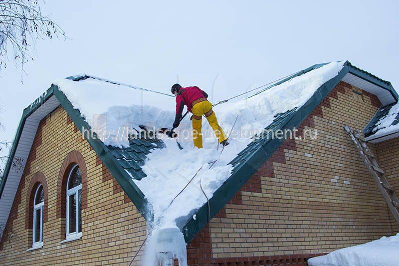 Очистка крыши от снега в смете